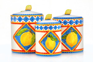 Ceramic Kitchen Canister Set