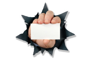 Punch Through Hand And Card
